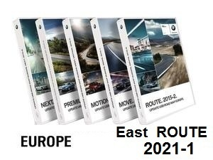 Road Map EUROPE EAST Route 2021-1  [Download only]