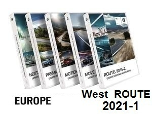Road Map EUROPE WEST Route 2021-1  [Download only]
